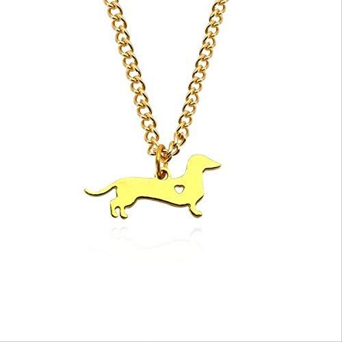qianyanxiaozhu Nette Hundehalskette Für Frauen Tiere Welpen Hündchen Anhänger Kawaii Shiba Inu Husky Pudel Halsketten & Anhänger Weihnachten Weihnachtsschmuck K
