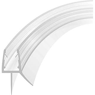 Duschdichtung Schwallschutz Runddusche Streifdichtung Ersatzdichtung Wasserabweiser Viertelkreis gebogen 90 cm für 4-8 mm Glasstärke für 21,98€/m