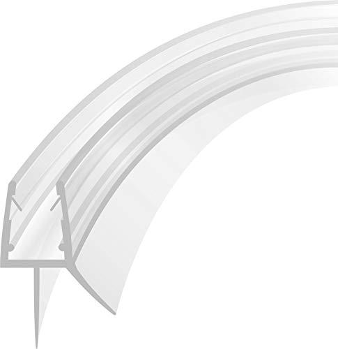 Duschdichtung Runddusche Schwallschutz Streifdichtung Ersatzdichtung Wasserabweiser Viertelkreis gebogen 1 m für 4-8 mm Glasstärke