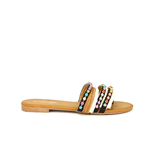919e07c020 Tong Noire Chaussures Cendriyon Mee Cinks Femme Multicolore HAdqxw6