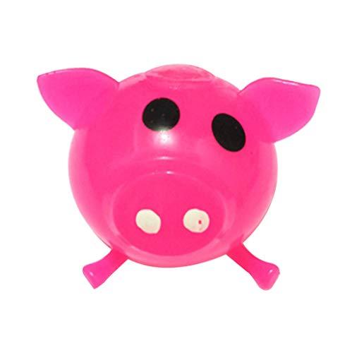 Auied Lernspielzeug 1 StüCke Jello Pig Nette Anti Stress Splat Wasser Schwein Ball Vent Spielzeug EntlüFtung Klebrig Dekompressionsspielzeug