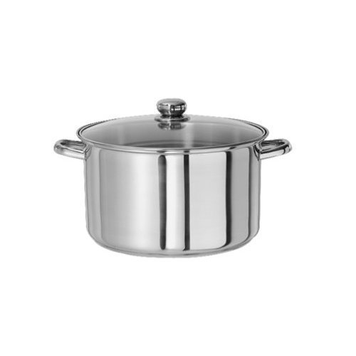Gourmet Chef SC-SS101 Stainless Steel Sauce Pan with Glass Lid, 1-Quart by American Trading House Inc. 1 Quart Sauce