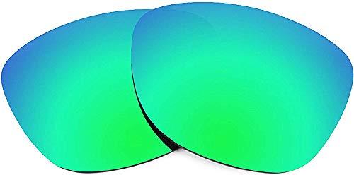 WOWDECOR Ersatzgläser für Oakley Frogskins Sonnenbrille Herren Damen Polarisiert Lenses (grün verspiegelt)