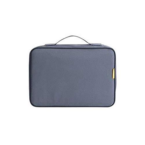 Yeucan File Storage Bag Multifunktionszertifikate Passport Ticket Family Document Collection Aufbewahrungstasche, grau -