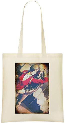 Resident Evil 6 Leon Kennedy Und Ada Wong - Resident Evil 6 Leon Kennedy And Ada Wong Custom Printed Shopping Grocery Tote Bag 100% Soft Cotton Eco-Friendly & Stylish Handbag For Everyday Use Custom -