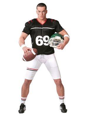 Baseball Kostüm Damen Spieler - Quarterback Football Spieler - Kostüm für Herren Karneval Fasching Sport Gr. M - XL, Größe:L
