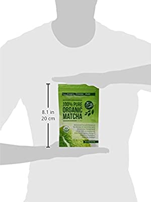 Thé Vert Matcha Bio USDA en Poudre – Perte de Poids et Complément Détox Entièrement Naturels – Accélérateur de Métabolisme & Brûleur de Graisse – Idéal pour Smoothies, Milk-Shakes et Gâteaux – 113 Grammes Culinaires