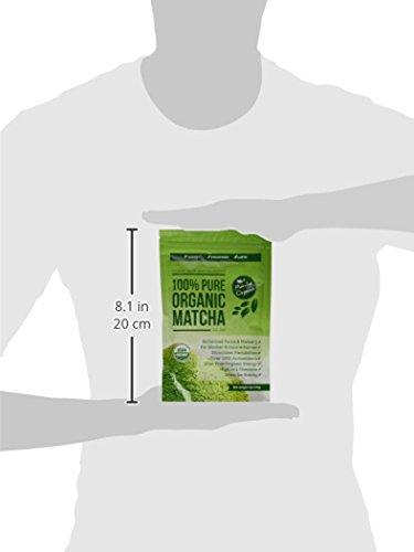 Thé Vert Matcha Bio USDA en Poudre - Perte de Poids et Complément Détox Entièrement Naturels - Accélérateur de Métabolisme & Brûleur de Graisse - Idéal pour Smoothies, Milk-Shakes et Gâteaux - 113 Grammes Culinaires