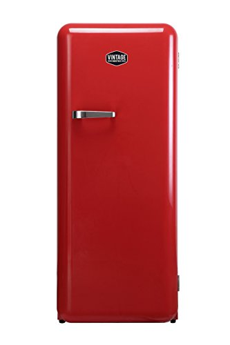 Vintage Industries • Retro-Kühlschrank Havanna in rot • 50er Jahre Look • Kühl-Gefrier-Kombination Havanna 342l • Getränke-Kühlschrank mit Gefrierfach / Gefrierschrank 25l • Gefrier-Kombination 152,5 cm ✔ freistehend ✔ stromsparend