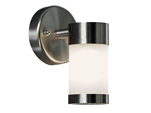 Konstsmide Stilvolle LED Außenwandleuchte Modena mit Edelstahl/Opal Glas - für tolle Akzente an der Hauswand! -