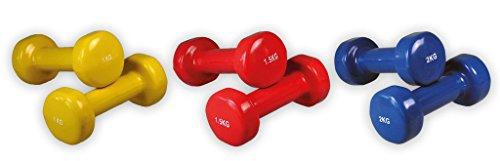 Gymnastik Hanteln | Vinyl | SET | 2 x 1,00 kg | 2 x 1,50 kg | 2 x 2,00 kg