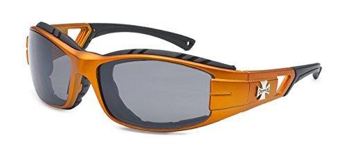 Choppers 5Zero1 Mode Rennen Sport Motorcyclist Schaumstoff gepolstert Sonnenbrillen 1 60 Mittel Sport Metallic orange