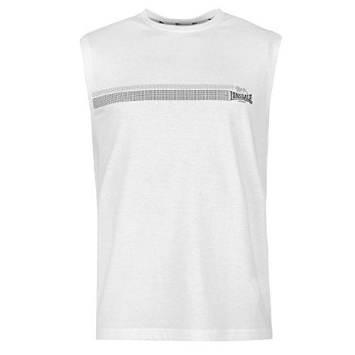 Lonsdale Mens Sleeveless T Shirt Vest Tank Top Stripe Crew Neck Regular Fit