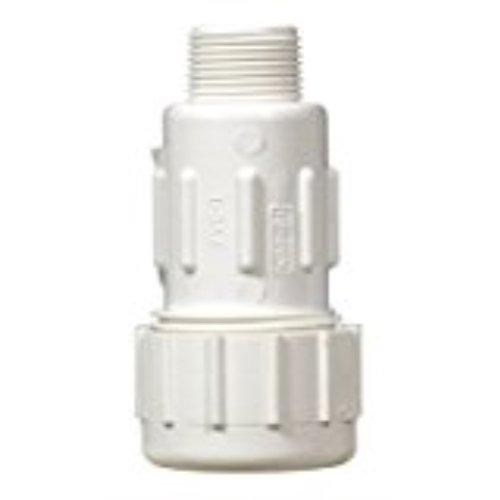 King Brothers Inc. PVC Stecker Kompression Adapter, Grau 0.75 Inch grau (Brothers Inc King)