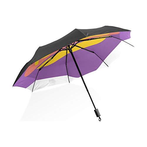 Regenschirm Winddicht Männer Köstliche Hot Dog American Fast Food Tragbare Kompakte Taschenschirm Anti Uv Schutz Winddicht Outdoor Reise Frauen Starker Regen Regenschirm