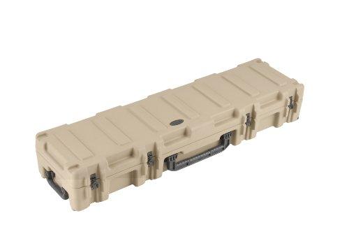 SKB Reisekoffer Transport für 2 Bögen Waffen 2 Gewehre Gemäß Militärstandard,127.0 x 25.4 x 16.5 cm braun