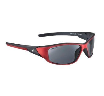 Fastrack UV Protected Sport Men\'s Sunglasses - (P352BK1 60 Smoke (Grey / Black) Color)