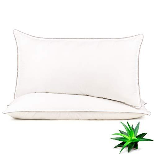 Vitapur Kopfkissen 40x80 mit Aloe Vera Extract - Kissen Set für alle Schlafpositionen - 2er Pack