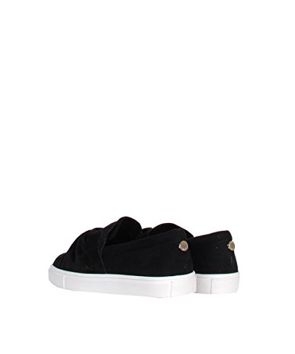 Steve Madden Knotty Black - Scarpe Nere In Suede Con Nodo In Punta Grey