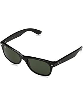 Ray-Ban 2132, Gafas de Sol Unisex, Multicolor (Matte Black), 55 mm