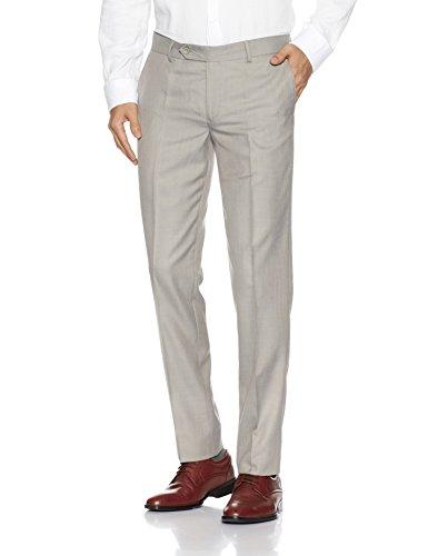 John Players Men's Formal Trousers (8907482043643_JFMWTRS170027003_32W x 36L_Frost Grey)