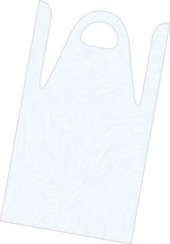 Fripac-Medis - Delantales desechables para aplicar tinte (120 x 80 cm, 50 unidades), color blanco