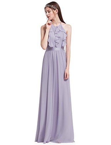 Ever Pretty Elegantes Neckholder Rüschen justierbares Brautjungfern Festkleid Kleid 38 Größe...