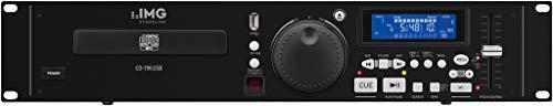 IMG STAGELINE CD-196USB Professioneller DJ-CD- und MP3-Spieler mit USB2.0-Schnittstelle, schwarz -