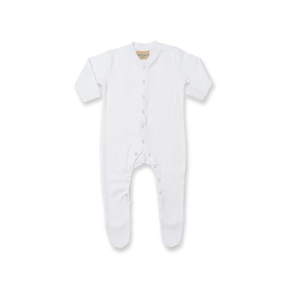 Larkwood - Pijama de manga larga liso unisex para bebé (Recién Nacido/Azul) 4
