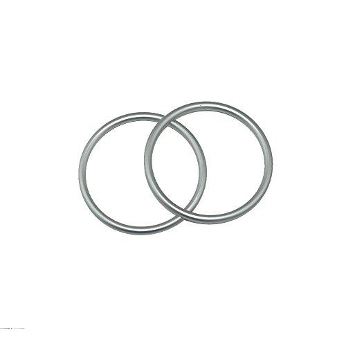 topind 7,6cm Größe Aluminium Baby Sling Ringe für Babyschalen & Tragetücher von 2Pcs Silber