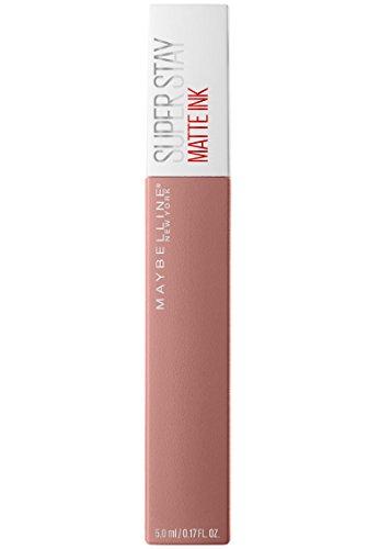 maybelline new york superstay matte ink collezione unnudes rossetto, matte, liquido, tinta labbra a lunga tenuta, 60 poet