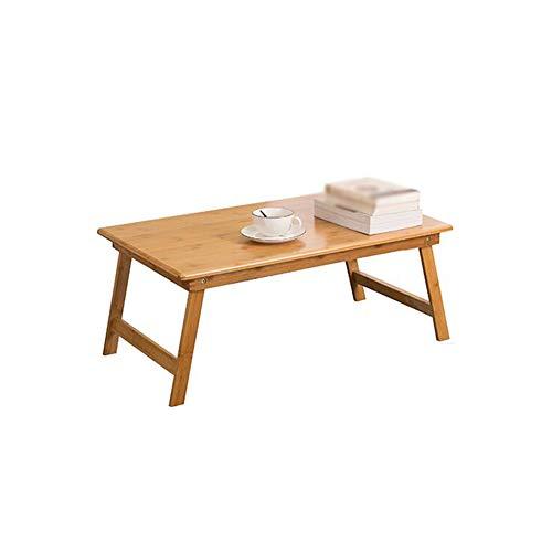 Table Pliante - Table Pliante Portable Table Pliante pour Ordinateur Portable en Bambou Bonne qualité (Taille : 80x50x34cm)