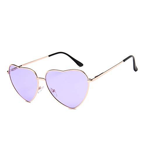 DIYOO Retro Herzform Sonnenbrille Mode Sonnenbrille Vintage Look Sonnenbrille männer Frauen Unisex Klassische Brillen lila