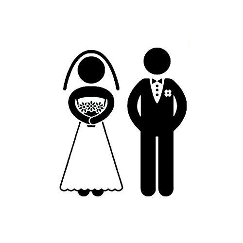 Self Adhesive Wandaufkleber Hochzeitskleidung Männer und Frauen wasserdichten...