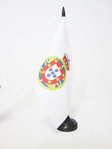 TISCHFLAGGE PORTUGIESISCHE KOLONIALGESCHICHTE 1415-2002 21x14cm - PORTUGAL ALT TISCHFAHNE 14 x 21 cm - flaggen AZ FLAG
