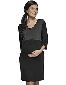 Happy Mama. Donna Prémaman camicia da notte la gravidanza e allattamento.027p