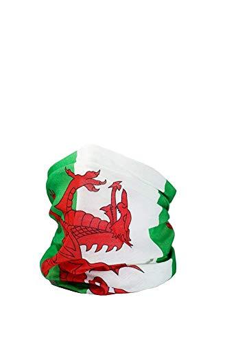 Ruffnek Walisische Flagge/Y Ddraig Goch Multifunktionale Kopfbedeckung Kragen, Schal, Kopftuch, Stirnband -