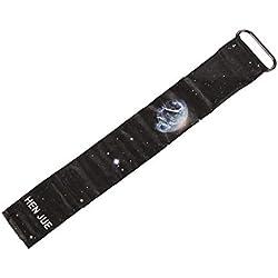 Personalisée Carte Regarder la Vie imperméable Strap Paper Clock Fermeture magnétique Boucle Montre numérique Unisexe LED pour Homme Femme (Multicolore)