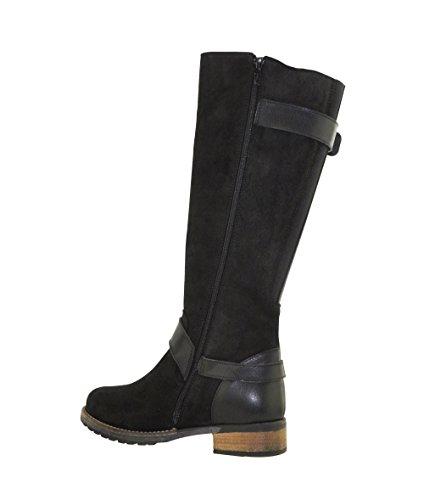 JJ Footwear Damen Stiefel Suede Galena XL Schwarz