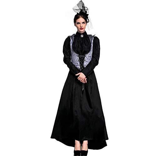 ASDF Mörder-Abendkleid-Partei der Erwachsenen Frau weibliches kleidet Earl Queen Halloween-Kostüm (Weibliche Killer Kostüm)