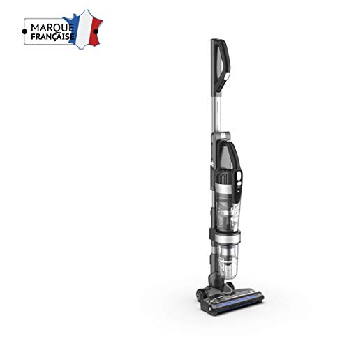 FaureFV-508MC1 Aspirateur balai Magic Clean 2.0 multi cyclonique sans fil 2 en 1 - 25,2V - 500W - Sans Sac - Auto Tracté - Coloris Gris