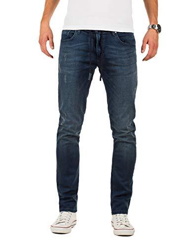 WOTEGA Herren Jeans Noah - Sweathose in Jeansoptik - Männer Jogg-Jeans Slim, Blau (Ensign Blue 194026), W32/L32