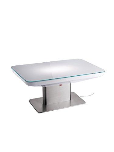 moree Lounge Tisch Studio Indoor 45 Weiß Edelstahl IP20   Inklusive Leuchtmittel: S14d 60W 420lm warmweiß   16-02-02