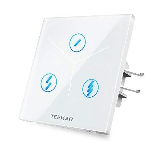 Teekar Domótica Interruptor Wifi 3 Gang