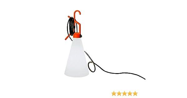 FLOS Wandleuchte May Day, Orange/Weiß, Kunststoff, F3780002 ...