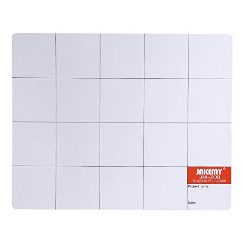 Magnetische Projektmatte Arbeitsmatte Peg Board mit öligem Stift und Radiergummi zum Verhindern von verlorenen und unorganisierten Schrauben für Reparaturen an Smartphone Tablet