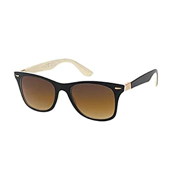 Sonnenbrille Wayfarer 400 UV zweifarbig gemustert Zierscharnier getönt beige Mm2GiqP