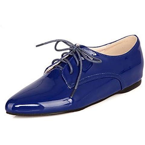 Scarpe donna tacco piatto cinturino alla caviglia/Punta/punta