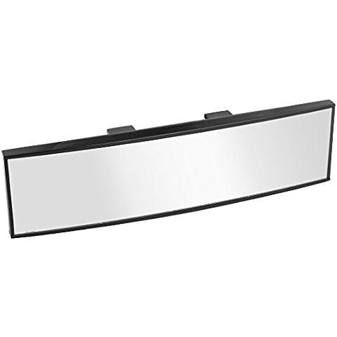 Espejo retrovisor del coche - SODIAL(R)260 mm ancho Clip interior curvado en Espejo retrovisor del coche Universal 65mm