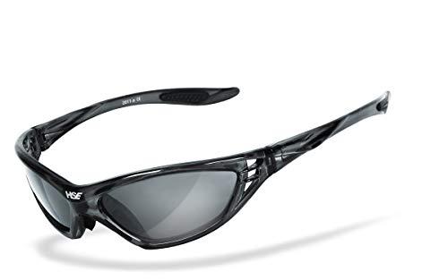 HSE SportEyes® | UV400 Schutzfilter, HLT® Kunststoff-Sicherheitsglas nach DIN EN 166 | Sportbrille, Radbrille, Sonnenbrille |